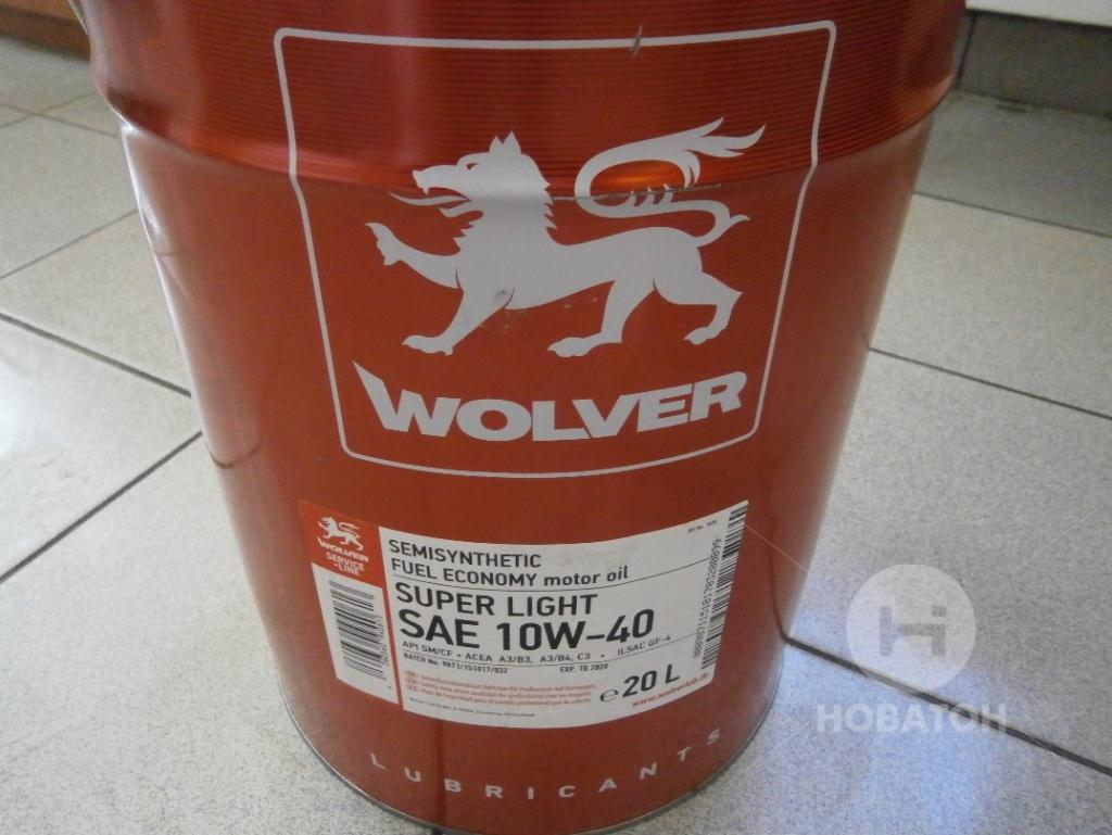Масло моторное Wolver Super Light SAE 10W-40 API SL/CF (Канистра 20 л) Made in Germany фото, цена