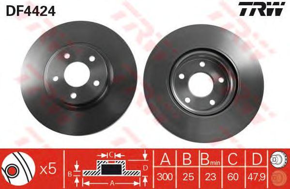 Диск тормозной FORD (ФОРД) C-Max, Focus передний (пр-во TRW) фото, цена