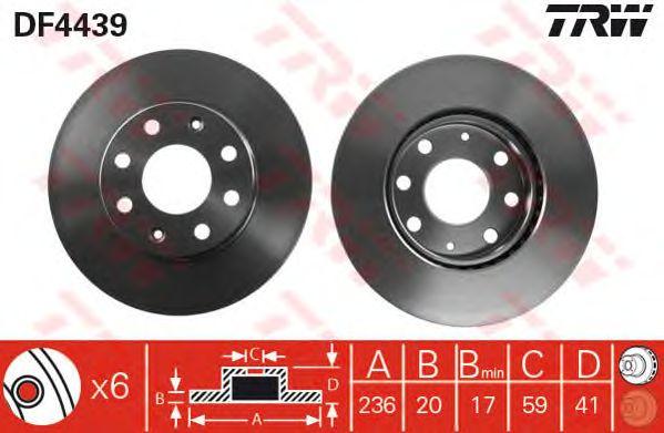 Диск тормозной CHEVROLET (ШЕВРОЛЕ) Aveo передний, вентелируемый (пр-во TRW) фото, цена