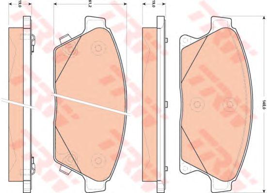 Колодки тормозные CHEVROLET (ШЕВРОЛЕ) Cruze, Orlando передние/задние (пр-во TRW) фото, цена