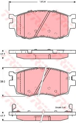 Колодки тормозные HYUNDAI (ХЮНДАЙ) Accent, KIA (КИА) Rio II передние (пр-во TRW) фото, цена