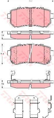 Колодки тормозные HYUNDAI (ХЮНДАЙ) Accent, i30, задние (пр-во TRW) фото, цена