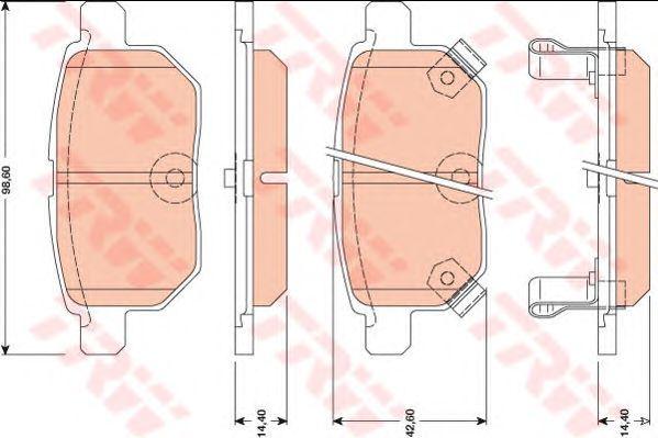 Колодки тормозные TOYOTA (ТОЙОТА) Auris задние (пр-во TRW) фото, цена