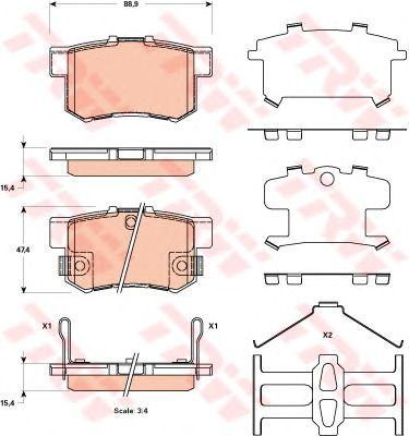 Колодки тормозные SUZUKI (СУЗУКИ) Swift, SX4 задние (пр-во TRW) фото, цена