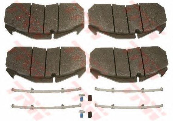 Колодки тормозные дисковые (комплект на ось) MAN (Ман) 2000,TGA, MERCEDES-BENZ, KASSBOHRER, RVI Magn фото, цена