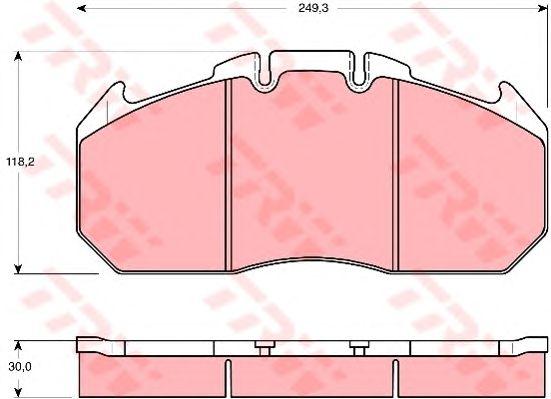 Колодки тормозные дисковые (комплект на ось) MAN (Ман) F2000,TGA, RVI Magnum,Premium, ROR LM/TM ELSA фото, цена