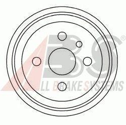 Барабан тормозной задний OPEL (ОПЕЛЬ) ASTRA/VECTRA (пр-во ABS) фото, цена