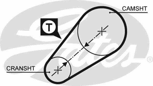 Ремень ГРМ зубчатый Z=54 (пр-во Gates) фото, цена