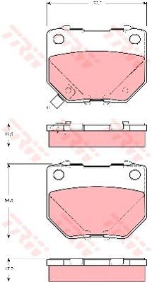 Колодки тормозные SUBARU (СУБАРУ) IMPREZA задн. (пр-во TRW) Распродажа фото, цена