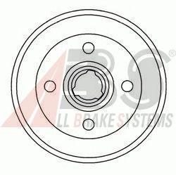 Барабан тормозной AUDI/SEAT/Volkswagen задний (пр-во ABS) фото, цена