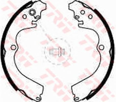 Колодки тормозные барабанные SUBARU (СУБАРУ) Imreza задние (пр-во TRW) фото, цена