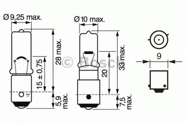 Лампа h6w 12v (пр-во Bosch) фото, цена