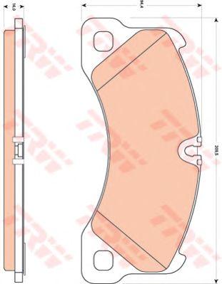 Колодки тормозные PORSCHE Cayenne, VOLKSWAGEN (ФОЛЬЦВАГЕН) Touareg передн. (пр-во TRW) фото, цена