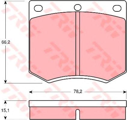 Колодки тормозные FORD (ФОРД) Escort передние (пр-во TRW) фото, цена