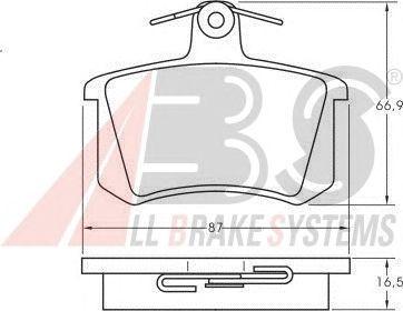 Колодки тормозные ALFA ROMEO (АЛЬФА РОМЕО)/AUDI/FIAT (ФИАТ)/Volkswagen задние (пр-во ABS) фото, цена