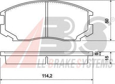Колодки тормозные DAIHATSU/MITSUBISHI TERIOS/COLT/LANCE передние (пр-во ABS) фото, цена
