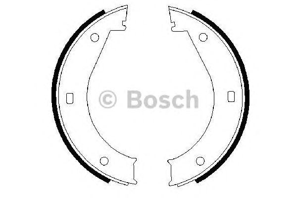 Колодки тормозные барабанные стояночного тормоза BMW (БМВ) 5(E28, E34) 7(E32,E38) (пр-во Bosch) фото, цена