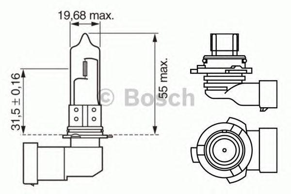 Лампа hb4 standard 12v wv (пр-во Bosch) фото, цена