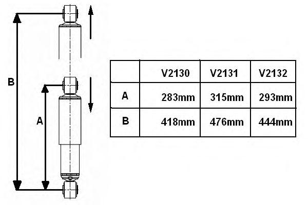 Амортизатор подвески FIAT (ФИАТ) Ducato задний VAN-MAGNUM (пр-во Monroe) фото, цена