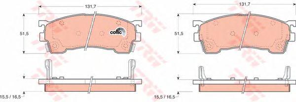 Колодки тормозные MAZDA (МАЗДА) 626 передние (пр-во TRW) фото, цена