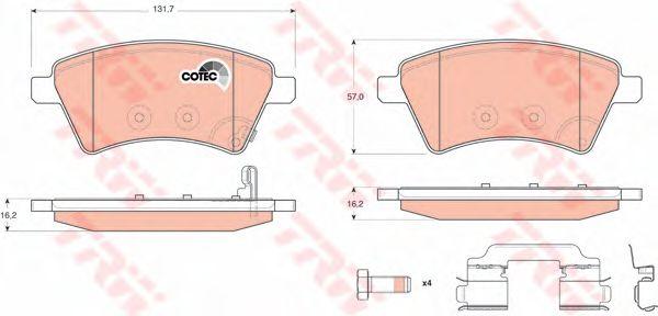 Колодки тормозные SUZUKI (СУЗУКИ) SX4 передн. (пр-во TRW) фото, цена