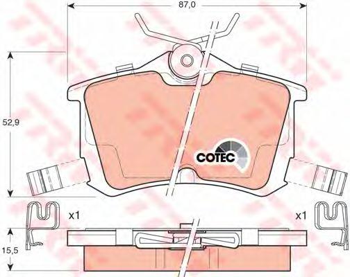 Колодки тормозные HONDA (ХОНДА) Accord задние (пр-во TRW) фото, цена