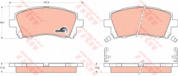 Колодки тормозные SUBARU (СУБАРУ) Forester (SF), Impreza передние (пр-во TRW) фото, цена