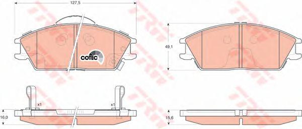 Колодки тормозные HYUNDAI (ХЮНДАЙ) Accent, Gets передние (пр-во TRW) фото, цена