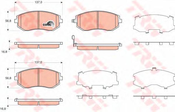 Колодки тормозные SUBARU (СУБАРУ) Legacy IV передние (пр-во TRW) фото, цена