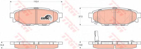Колодки тормозные SUBARU (СУБАРУ) Legacy IV задние (пр-во TRW) фото, цена