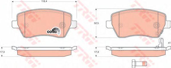 Колодки тормозные SUZUKI (СУЗУКИ) Swift передние (пр-во TRW) фото, цена