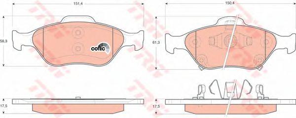 Колодки тормозные TOYOTA (ТОЙОТА) Yaris передние (пр-во TRW) фото, цена