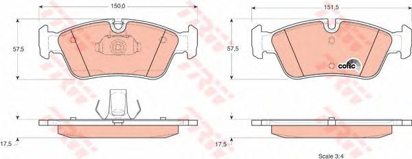Колодки тормозные BMW (БМВ) 3 (E46) передние (пр-во TRW) фото, цена