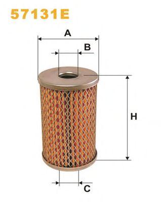 Фильтр масляный (сменный элемент) рулевое упр. 57131E/OM512 (пр-во WIX-Filtron) PROMO АКЦИЯ фото, цена