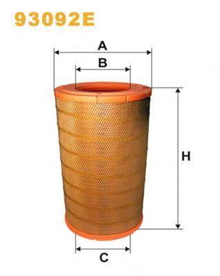 Фильтр воздушный (пр-во WIX-Filtron) 93092E/416/2 фото, цена