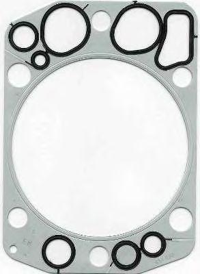 Прокладка головки блока цилиндра MAN (Ман) D2840/2865/2866/2876 МЕ (МЕТАЛЛ-РЕЗИНА) (пр-во Elring) фото, цена