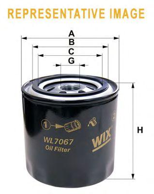 Фильтр масляный (пр-во WIX-Filtron) WL7307/OP636/1 фото, цена