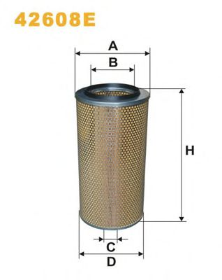 Фильтр воздушный DAF (ДАФ), MB, SCANIA (СКАНИЯ)  PROMO АКЦИЯ (пр-во WIX-Filtron) 42608E/AM402 фото, цена