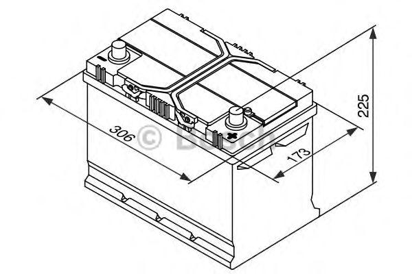 Аккумулятор   95Ah-12v BOSCH (S4028) (306x173x225),R,EN830 (1-й сорт) фото, цена
