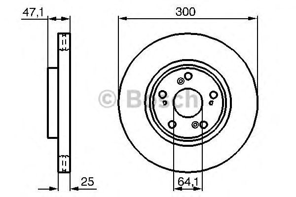 Диск тормозной (пр-во Bosch) фото, цена
