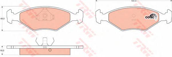 Колодки тормозные FIAT (ФИАТ) передние (пр-во TRW) фото, цена