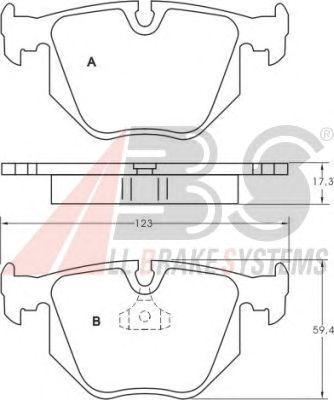 Колодки тормозные задние BMW (БМВ)/LANDROVER 3/7 series (E46/38)/X3/X5 (пр-во ABS) фото, цена