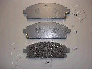 Колодки тормозные NISSAN (НИССАН) X-TRAIL (пр-во Ashika) фото, цена