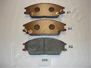 Колодки тормозные HYUNDAI (ХЮНДАЙ) ACCENT (пр-во Ashika) фото, цена