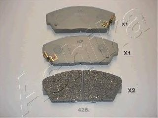 Колодки тормозные HONDA (ХОНДА) ACCORD (пр-во Ashika) фото, цена