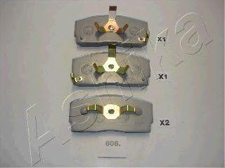 Колодки тормозные DAIHATSU CHARADE (пр-во Ashika) фото, цена