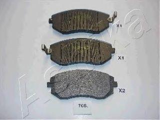 Колодки тормозные SUBARU (СУБАРУ) FORESTER (пр-во Ashika) фото, цена