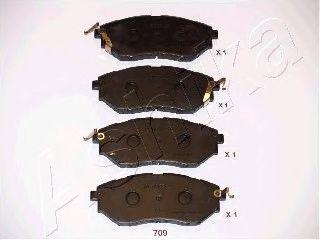 Колодки тормозные SUBARU (СУБАРУ) OUTBACK (пр-во Ashika) фото, цена