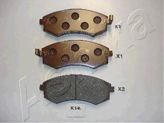 Колодки тормозные KIA (КИА) MAGENTIS (пр-во Ashika) фото, цена