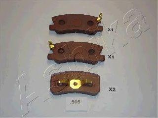 Колодки тормозные MITSUBISHI (МИЦУБИСИ) LANCER (пр-во Ashika) фото, цена